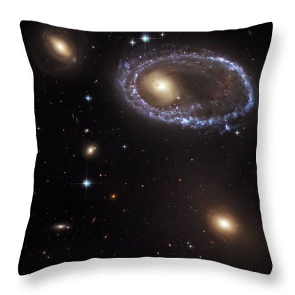 Ring Galaxy Throw Pillow by The  Vault - Jennifer Rondinelli Reilly