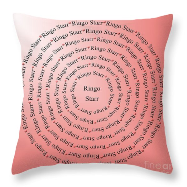 Ringo Starr Typography Throw Pillow by Andee Design