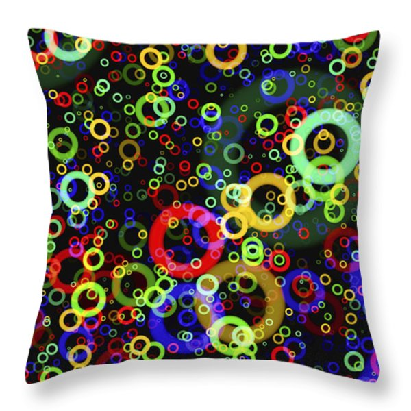Rings In Space Throw Pillow by Daniel Hagerman