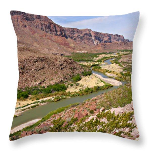 Rio Grande Throw Pillow by Christine Till