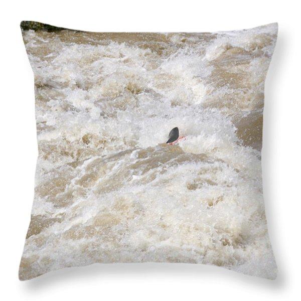 Rio Grande Kayaking Throw Pillow by Steven Ralser