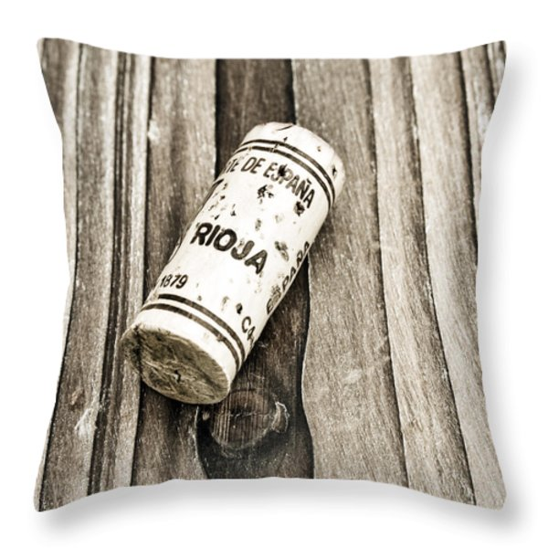 Rioja Wine Cork Throw Pillow by Frank Tschakert