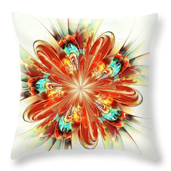 Riot Throw Pillow by Anastasiya Malakhova