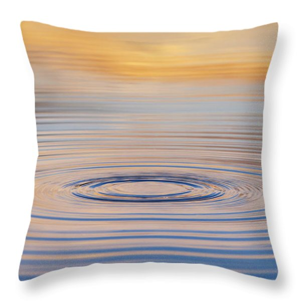 Ripples On A Still Pond Throw Pillow by Tim Gainey