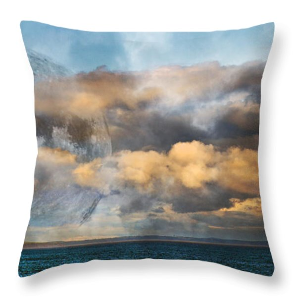 Rising Mystic Throw Pillow by Betsy A  Cutler