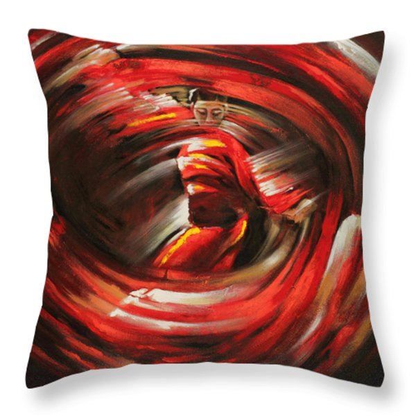 Rising Sun Throw Pillow by Karina Llergo Salto