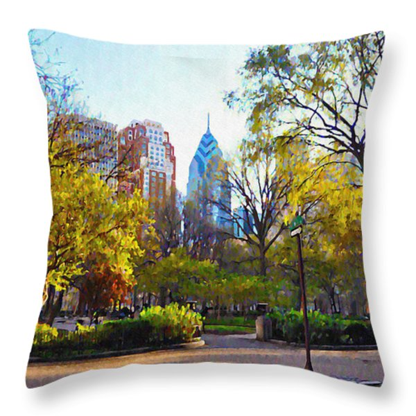 Rittenhouse Square in the Spring Throw Pillow by Bill Cannon