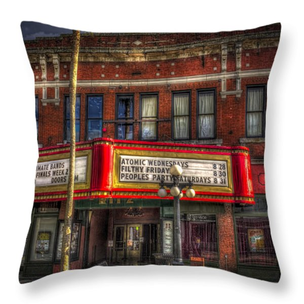 Ritz Ybor Theater Throw Pillow by Marvin Spates