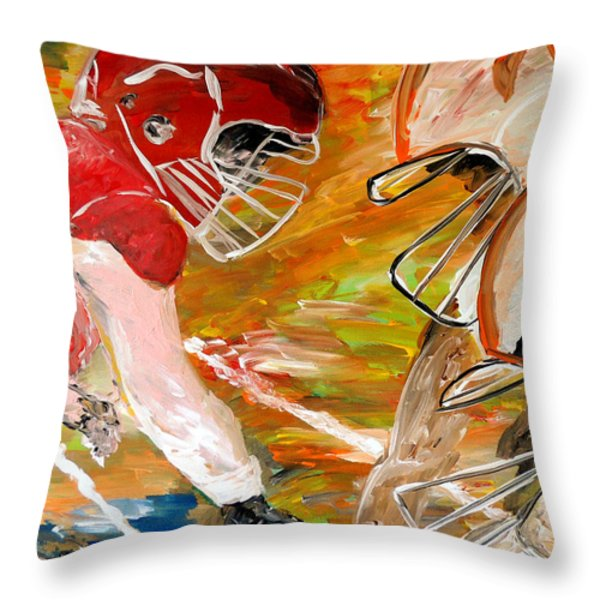 Rivals Face To Face  Throw Pillow by Mark Moore