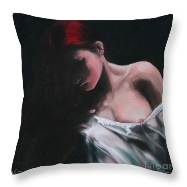 Riven Throw Pillow by Jindra Noewi