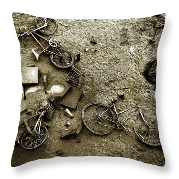 River Bank Throw Pillow by Mark Rogan