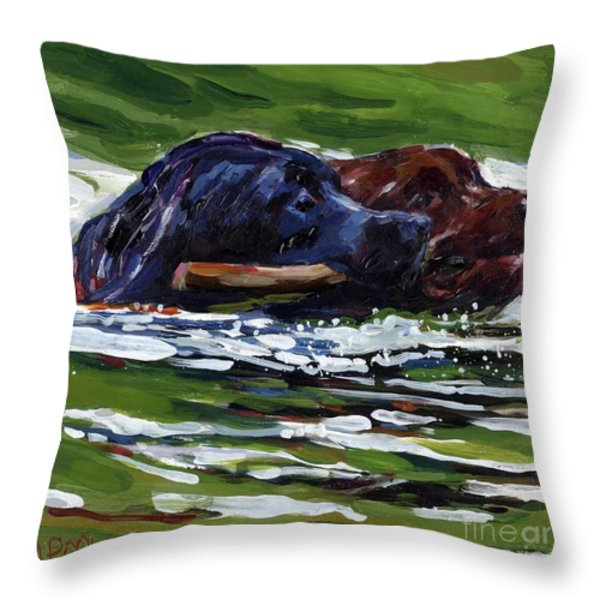 River Run Throw Pillow by Molly Poole