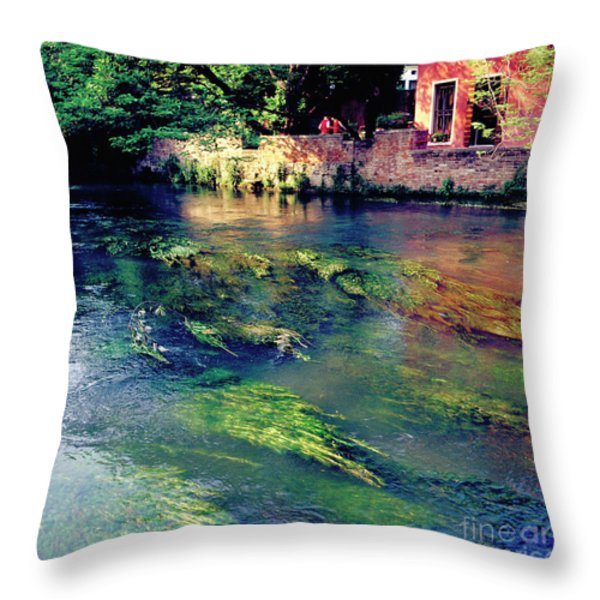 River Sile In Treviso Italy Throw Pillow by Heiko Koehrer-Wagner