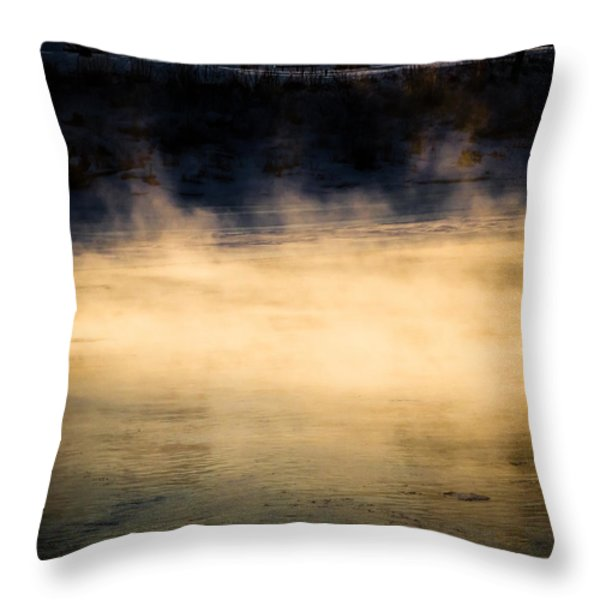 River Smoke Throw Pillow by Bob Orsillo
