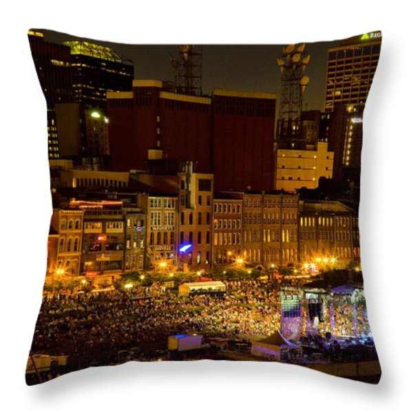 Riverfront Evening Concert Throw Pillow by Diana Powell