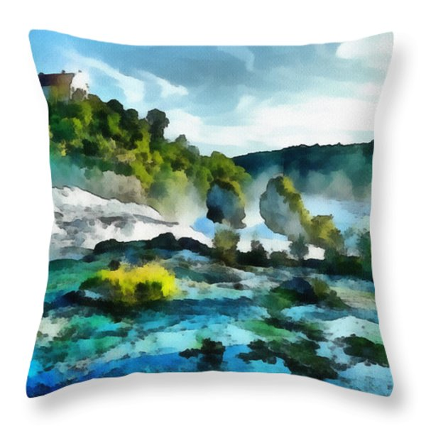 Riverscape Throw Pillow by Ayse Deniz
