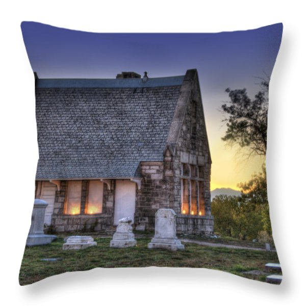 Riverside Cemetery Throw Pillow by Juli Scalzi