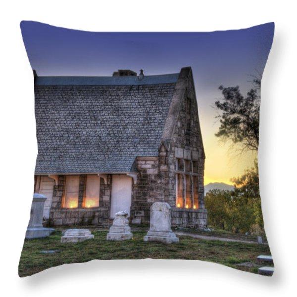 Riverside Cemetery Throw Pillow by Juli Scalzi