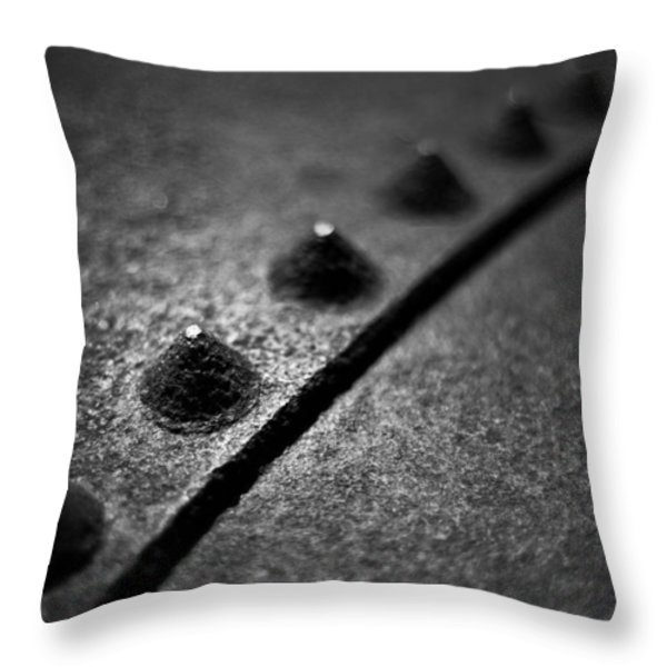 Rivets 1 Throw Pillow by Scott Norris
