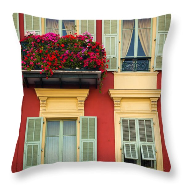 Riviera Windows Throw Pillow by Inge Johnsson