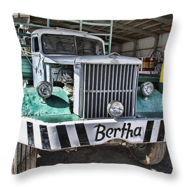 Road Train Bertha Throw Pillow by Douglas Barnard
