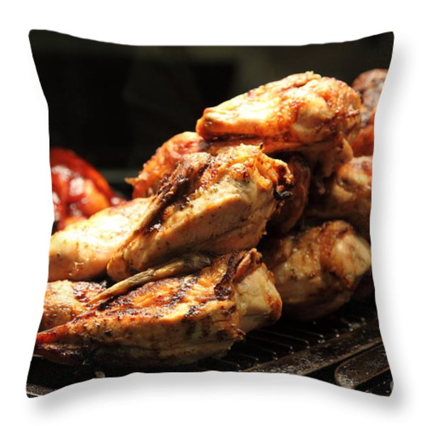 Roast Chicken - 5D20686 Throw Pillow by Wingsdomain Art and Photography