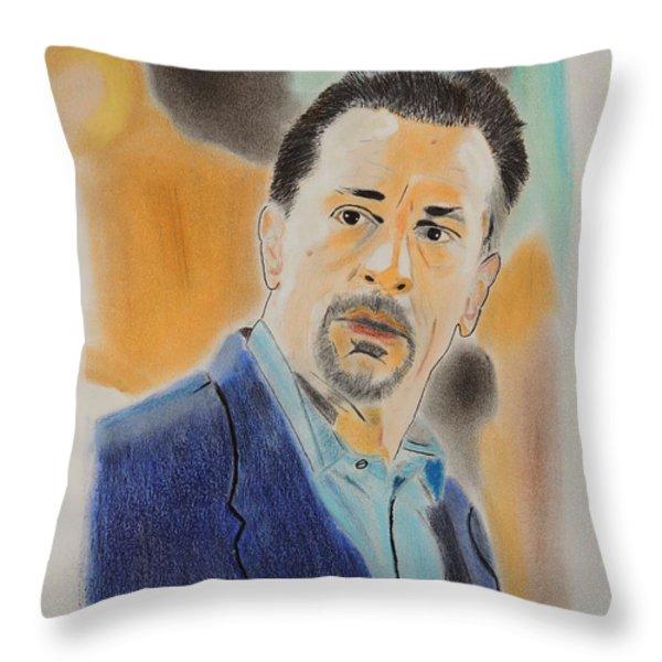 Robert De Niro  Throw Pillow by David Briot