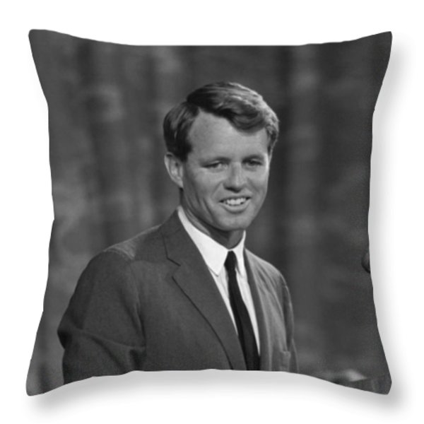 Robert Kennedy Throw Pillow by War Is Hell Store