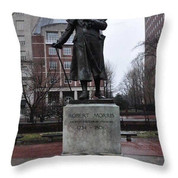 Robert Morris Financier of the American Revolution Throw Pillow by Bill Cannon