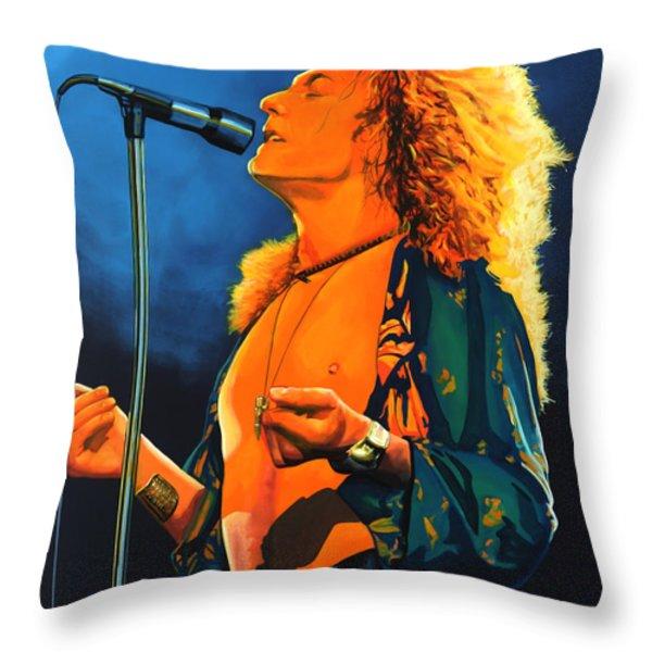 Robert Plant Throw Pillow by Paul  Meijering