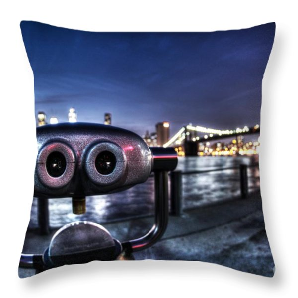 Robot Views Throw Pillow by Andrew Paranavitana