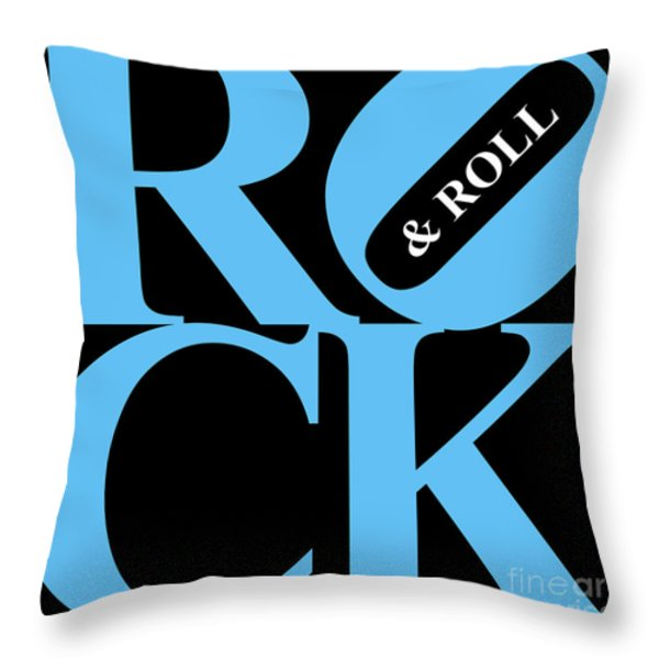 Rock And Roll 20130708 Blue Black White Throw Pillow by Wingsdomain Art and Photography