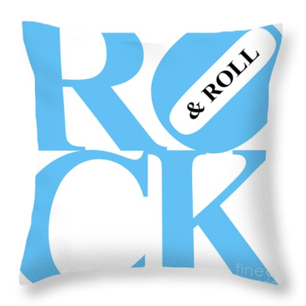 Rock And Roll 20130708 Blue White Black Throw Pillow by Wingsdomain Art and Photography