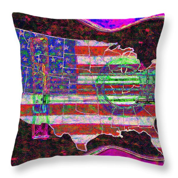 Rock and Roll America 20130123 Violet Throw Pillow by Wingsdomain Art and Photography