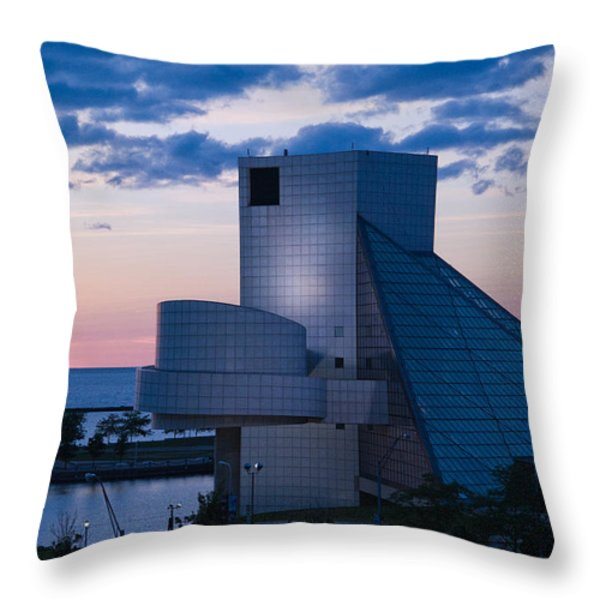 Rock and Roll Hall of Fame Throw Pillow by Dale Kincaid