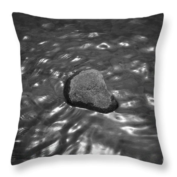 Rock And Sun Reflections Throw Pillow by Dave Gordon