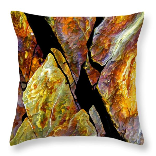 Rock Art 17 Throw Pillow by Bill Caldwell -        ABeautifulSky Photography