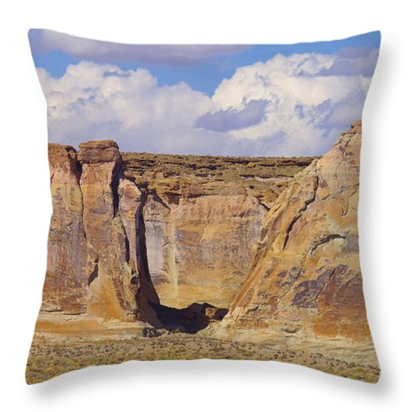 Rock Formations At Capital Reef Throw Pillow by Jeff Swan