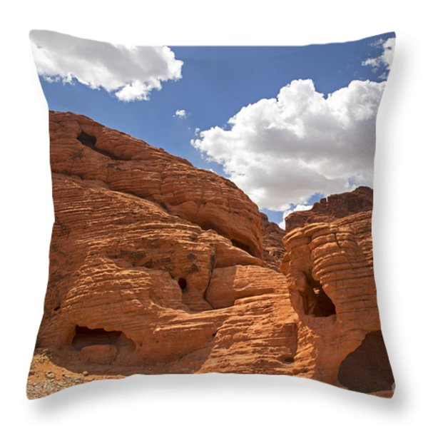 Rock formations Valley of fire Throw Pillow by Jane Rix