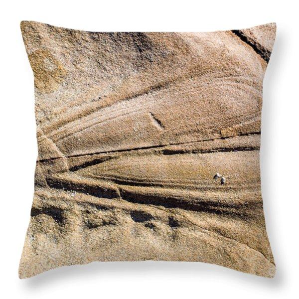Rock Patterns Throw Pillow by Steven Ralser