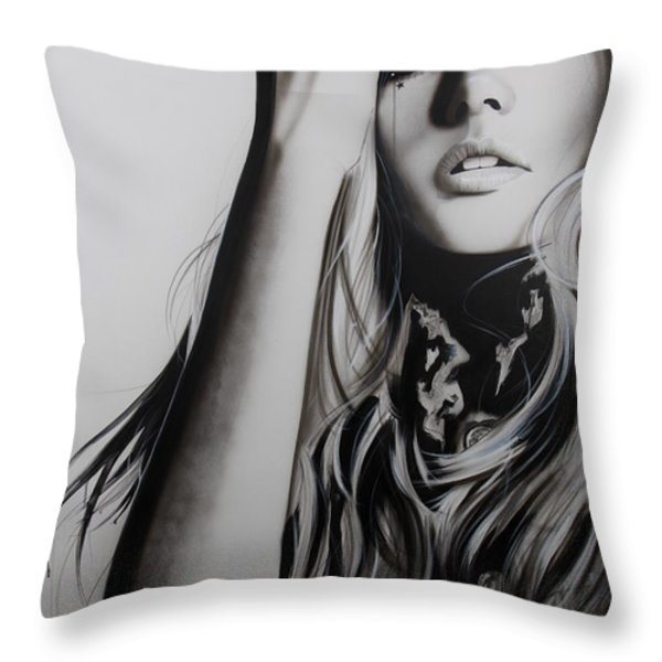 'Rock Police II' Throw Pillow by Christian Chapman Art