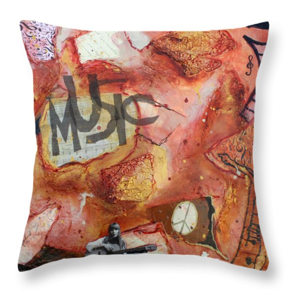 Rockit II Throw Pillow by Victoria  Johns
