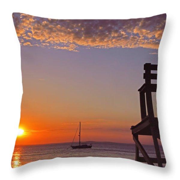 Rockport Sunset Throw Pillow by Joann Vitali