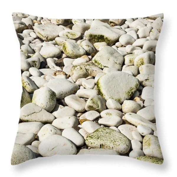 Rocks Abstract Throw Pillow by Svetlana Sewell