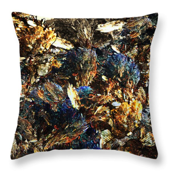 Rocks And Minerals Throw Pillow by Klara Acel