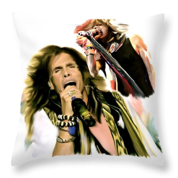Rocks Gothic Lion  STEVEN TYLER Throw Pillow by Iconic Images Art Gallery David Pucciarelli