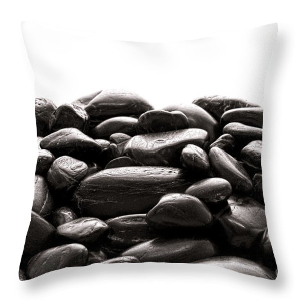 Rocks Throw Pillow by Olivier Le Queinec