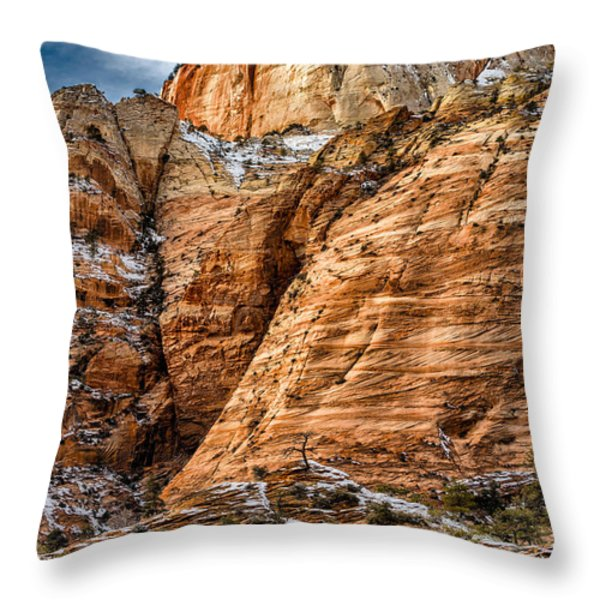 Rocky Peak Throw Pillow by Christopher Holmes