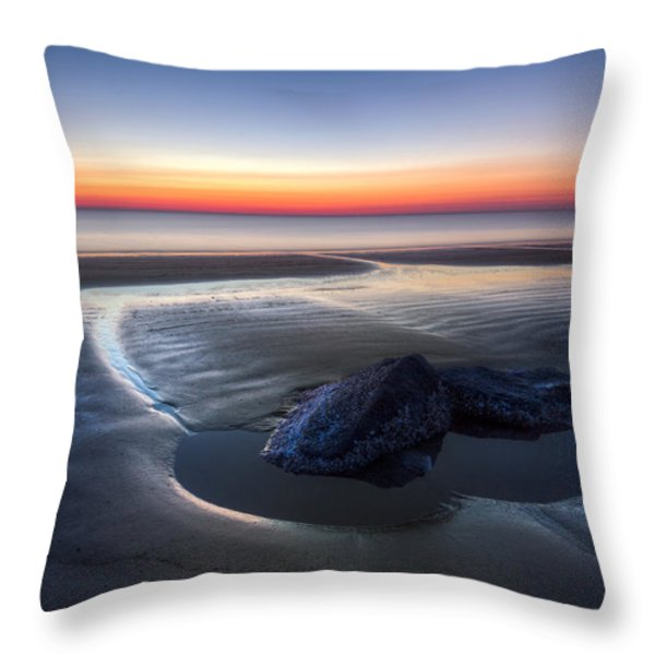 Rocky Pools Throw Pillow by Debra and Dave Vanderlaan