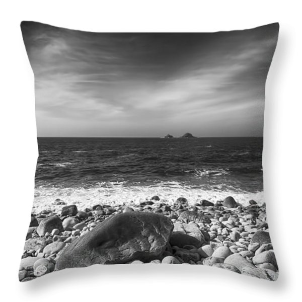 Rocky Shore Throw Pillow by Chris Thaxter